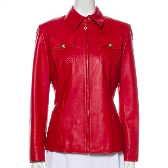 St. John Leather Jacket, Size M